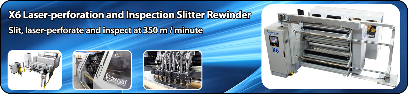 Laser perforation and inspection slitter