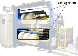 Lay-on rollers