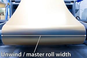 Unwind roll width