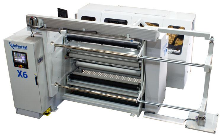 X6lp Laser-perforación e Inspección Cortadora rebobinadora